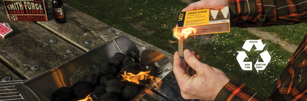 Sweetfire Strikeable Fire Starter - Burns for over 7 minutes - Great for survival and being prepared prepper