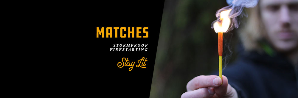 Waterproof Matches and Stormproof Matches