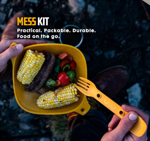 UCO 4 piece Mess Kit - backpacking plates and bowls sporks