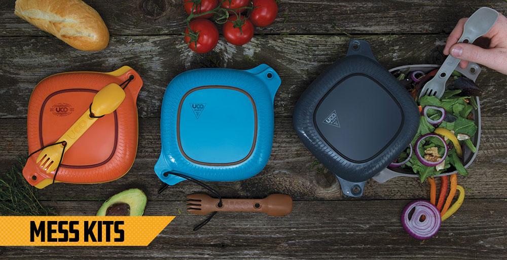 Camping Mess Kits & Campware - Reusable BPA free plastic durable Mess Kits, Backpacking, Outdoor Meals