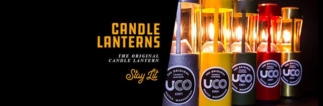 uco brass candle lantern