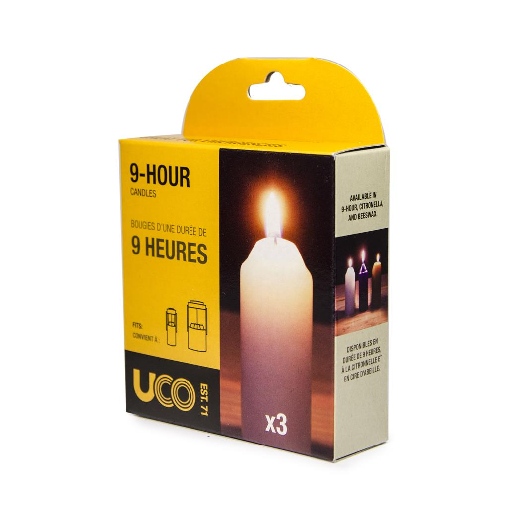 10 Items UCO 9-hour Candles 10 Pack for Candle Lanterns 2-Pack Bundle