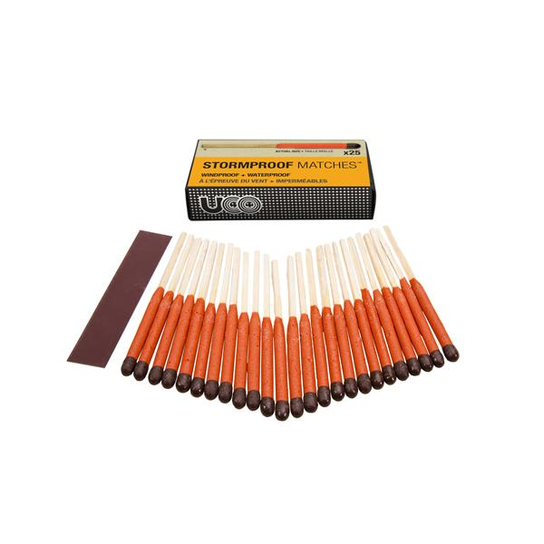 uco stormproof matches 25 pack uco gear